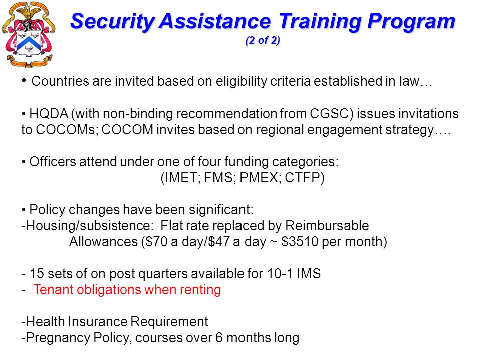 Security Assistance Training Program