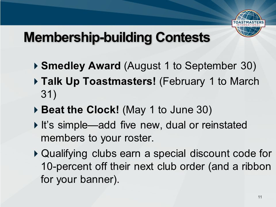 Membership-building Contests