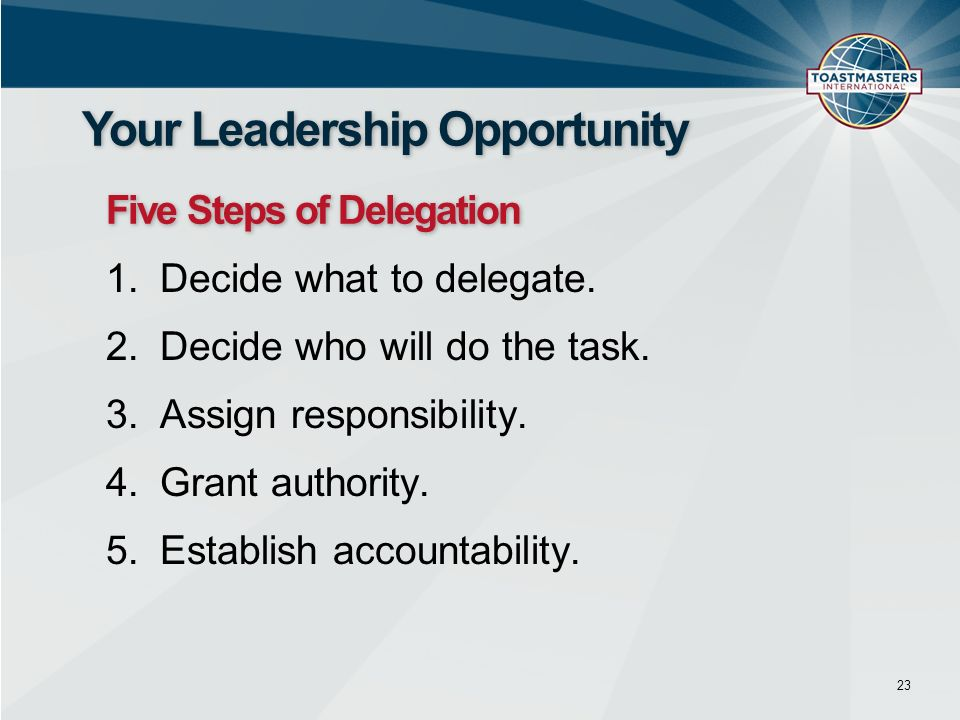 Your Leadership Opportunity