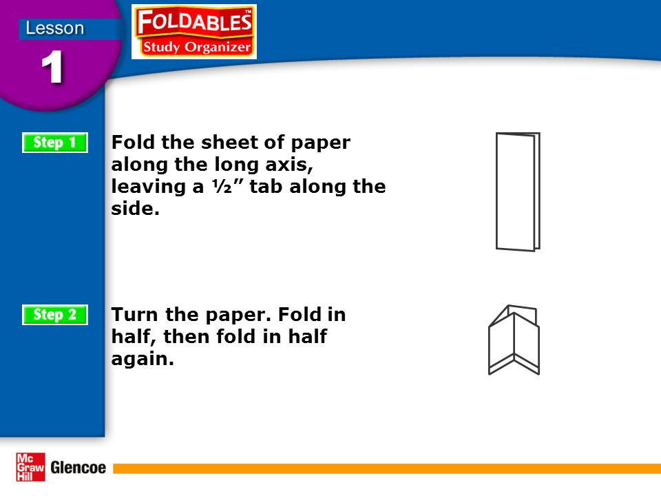 Turn the paper. Fold in half, then fold in half again.