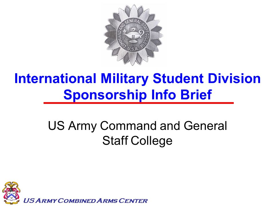 International Military Student Division Sponsorship Info Brief