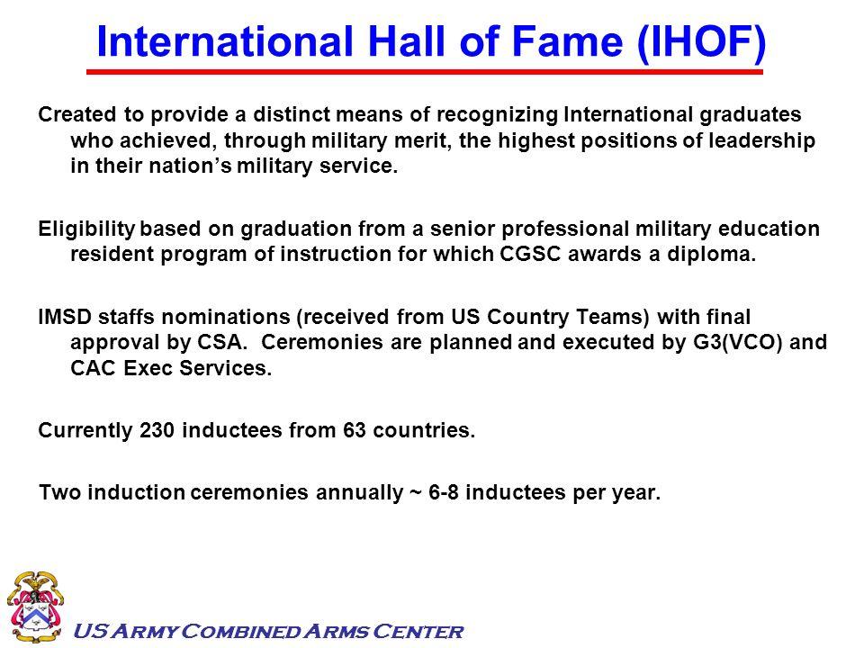 International Hall of Fame (IHOF)