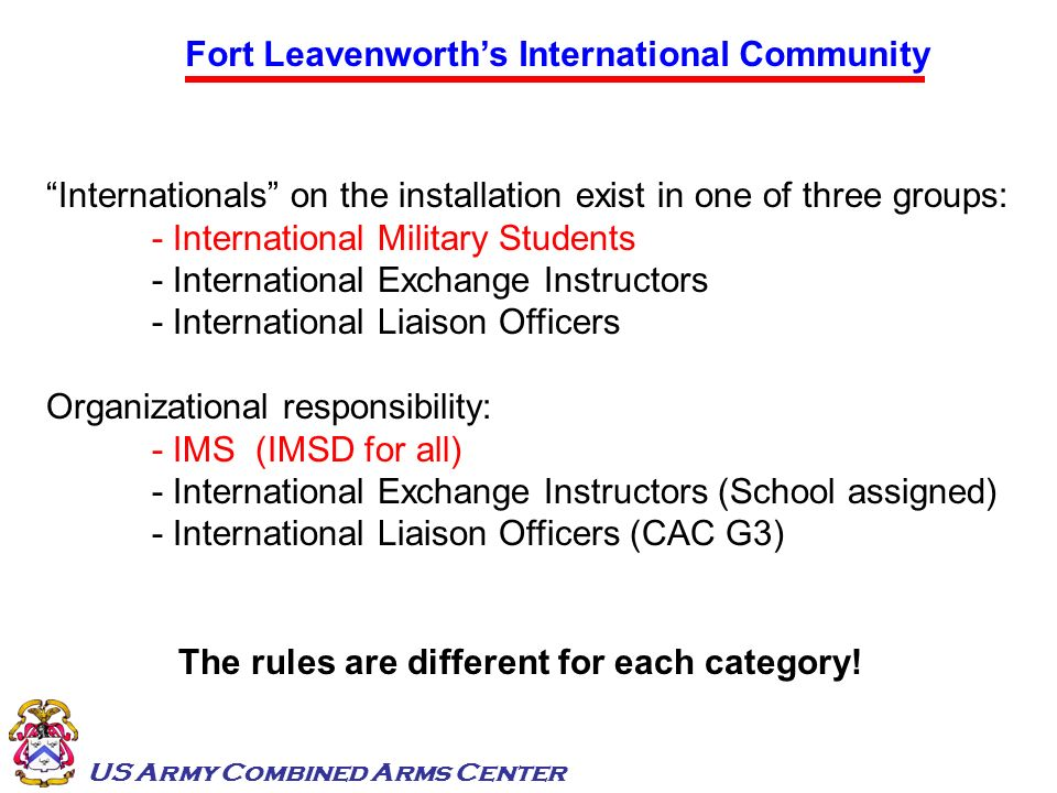 Fort Leavenworth's International Community