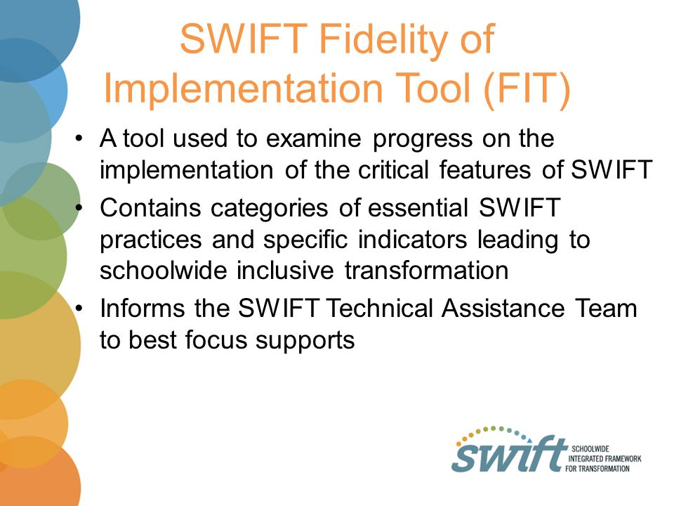 SWIFT Fidelity of Implementation Tool (FIT)