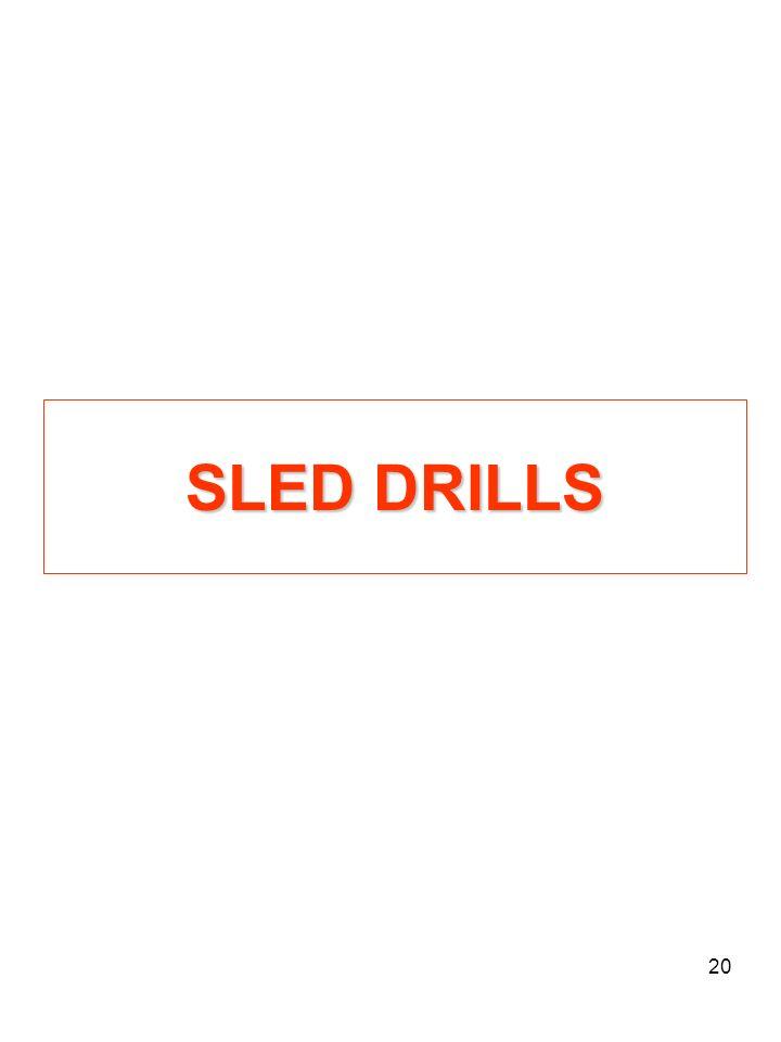 SLED DRILLS