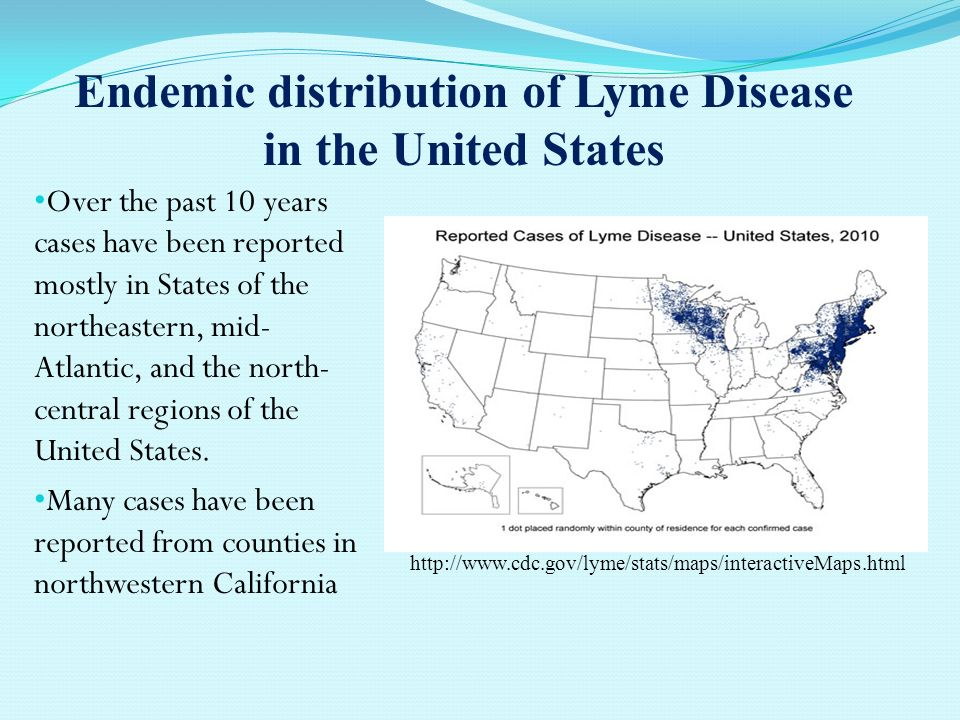 Endemic Distribution Of Lyme Disease In The United States
