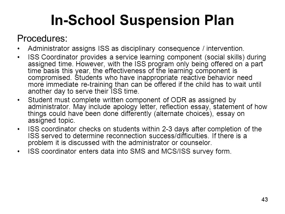In School Suspension Forms Keystone Elementary Sc...