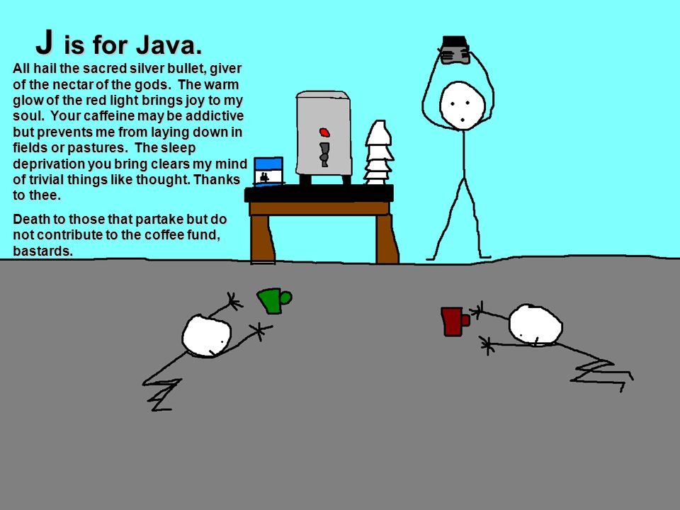 J is for Java.