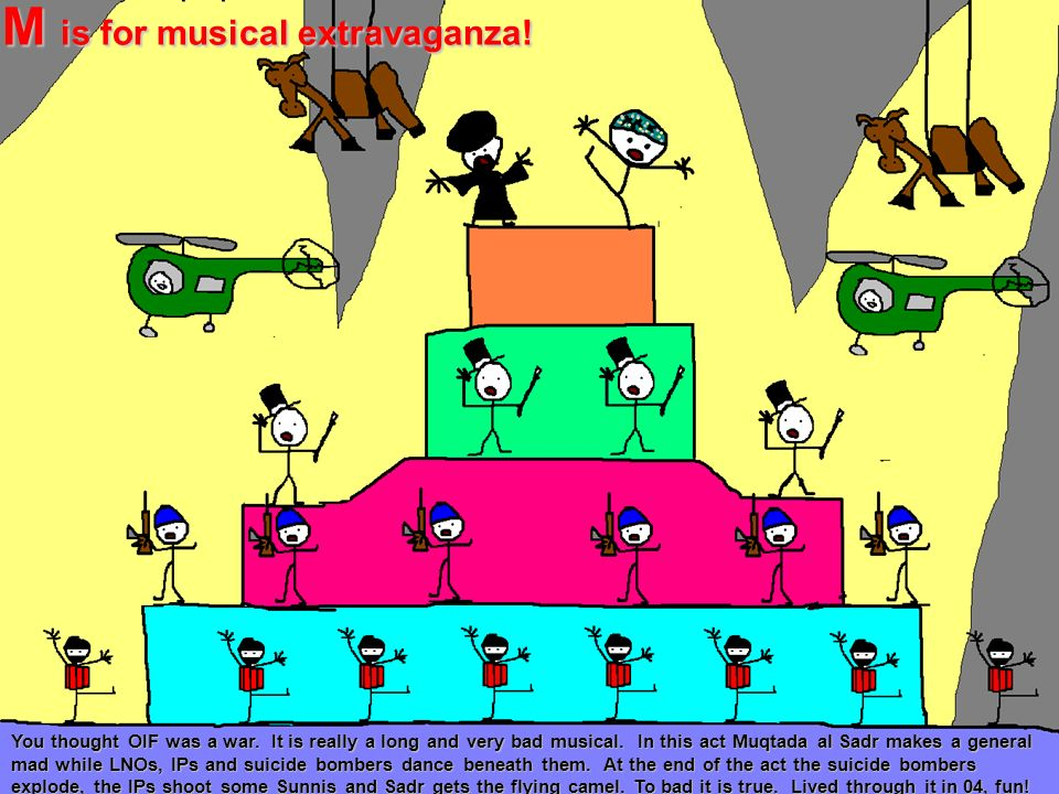 M is for musical extravaganza!