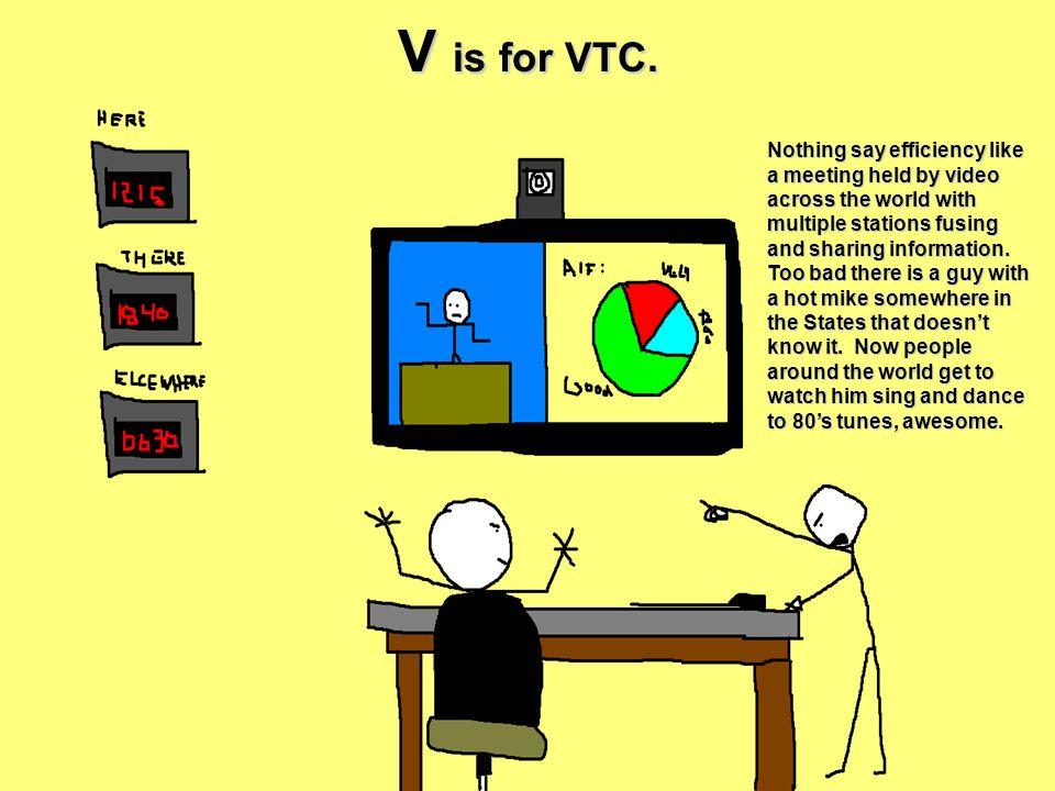 V is for VTC.