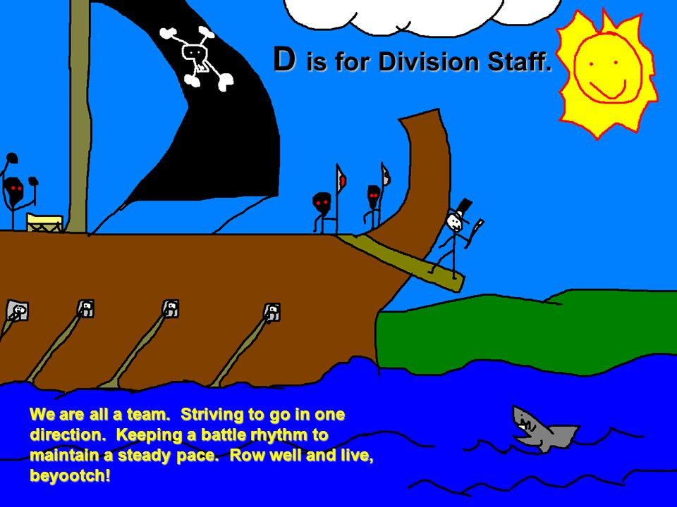 D is for Division Staff.