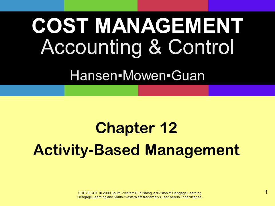 activity based management a summary Activity-based costing (abc) is a method of assigning costs to products or services based on the resources that they consume more management ideas.