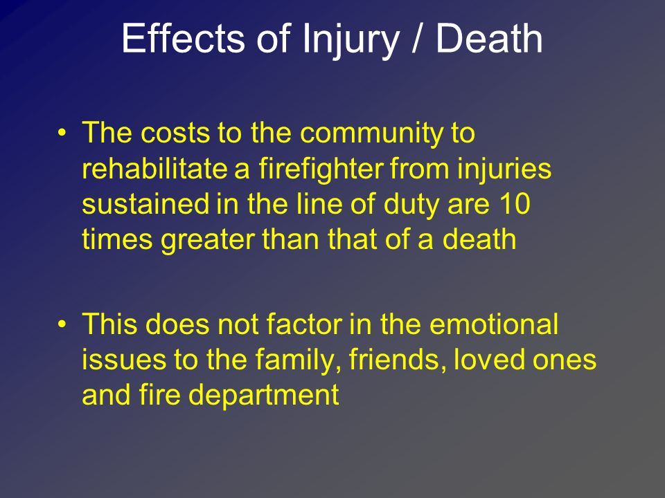 Effects of Injury / Death