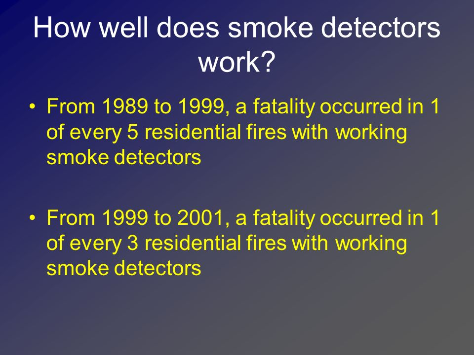 How well does smoke detectors work