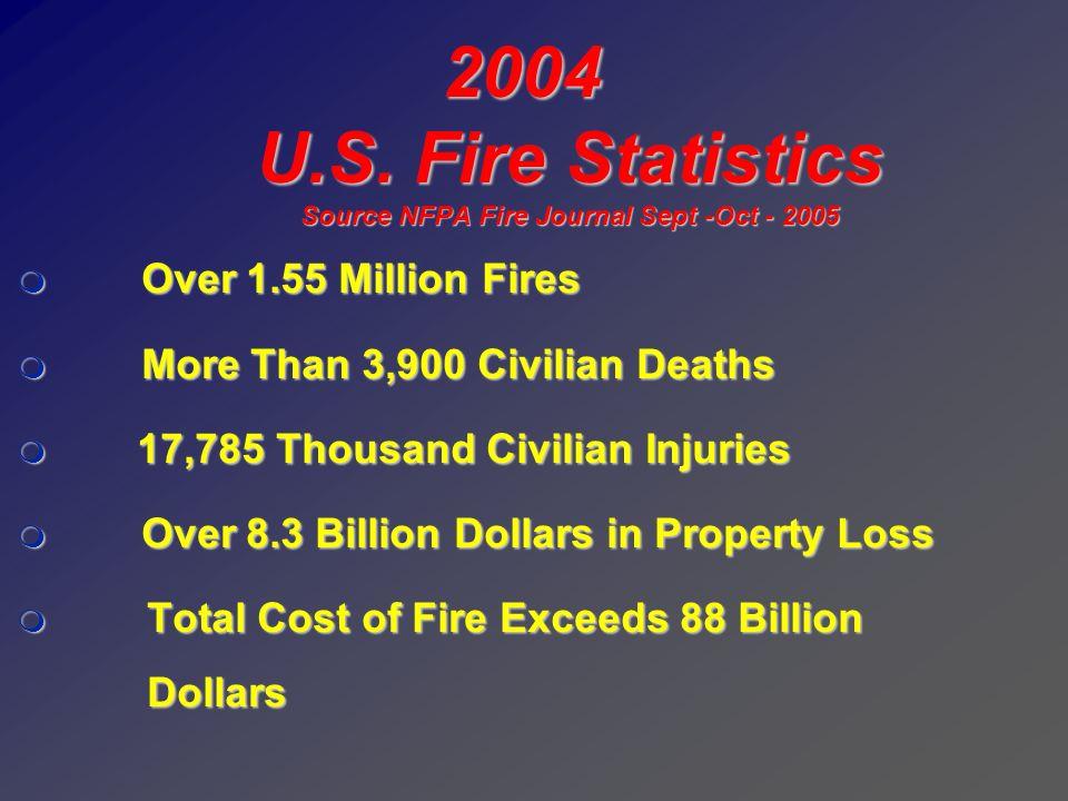 U.S. Fire Statistics Source NFPA Fire Journal Sept -Oct - 2005