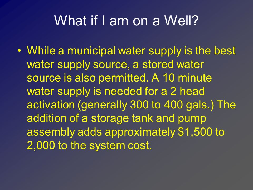 What if I am on a Well
