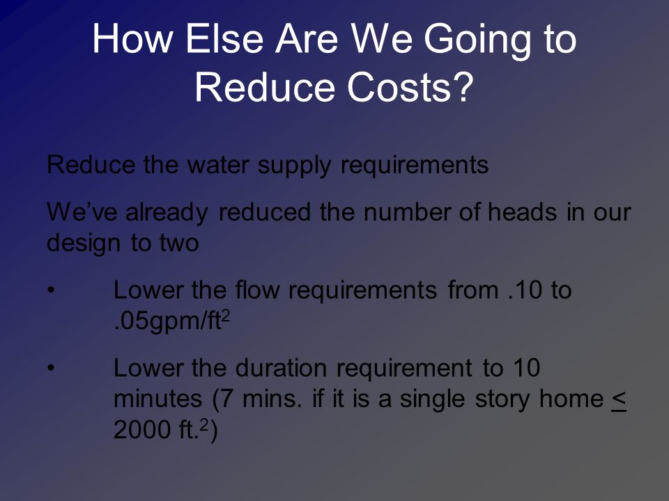 How Else Are We Going to Reduce Costs