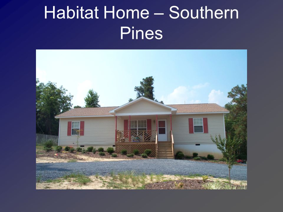 Habitat Home – Southern Pines