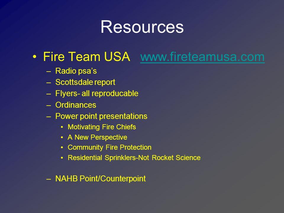 Resources Fire Team USA www.fireteamusa.com Radio psa's