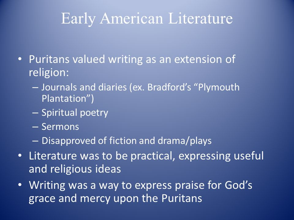 Essay on early american literature Custom paper Academic Service