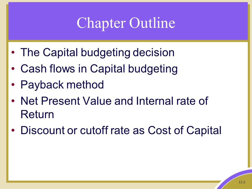 budgeting outline