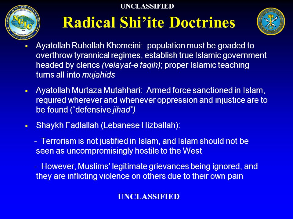 Radical Shi'ite Doctrines