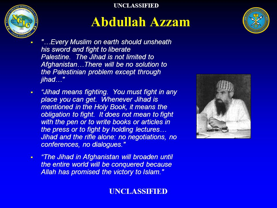 Abdullah Azzam UNCLASSIFIED