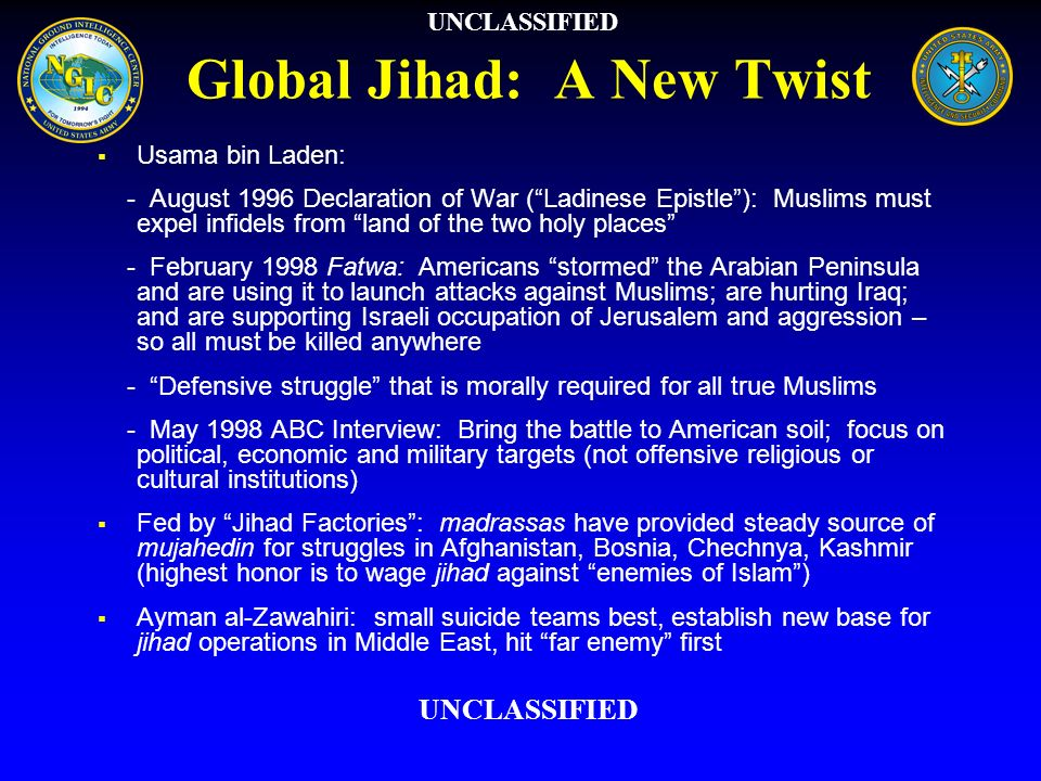 Global Jihad: A New Twist