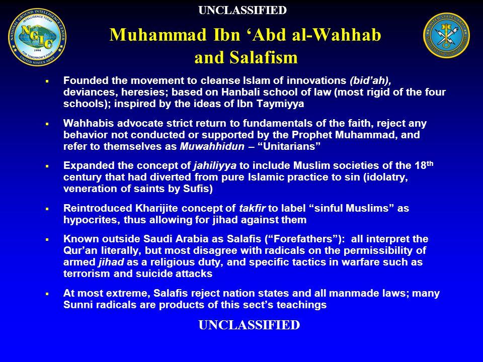 Muhammad Ibn 'Abd al-Wahhab and Salafism