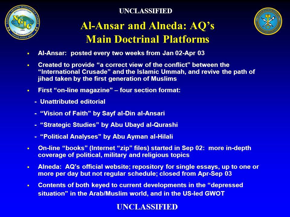 Al-Ansar and Alneda: AQ's Main Doctrinal Platforms