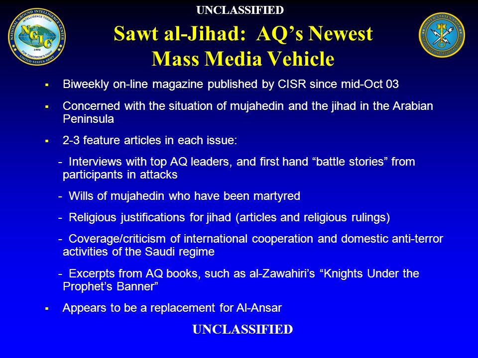 Sawt al-Jihad: AQ's Newest Mass Media Vehicle
