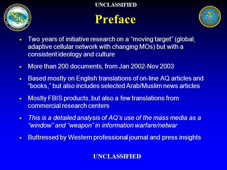 UNCLASSIFIED Preface.