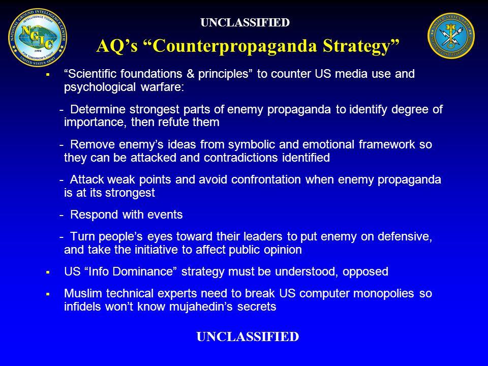 AQ's Counterpropaganda Strategy