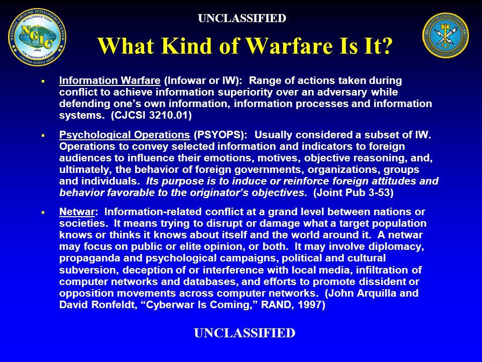 What Kind of Warfare Is It