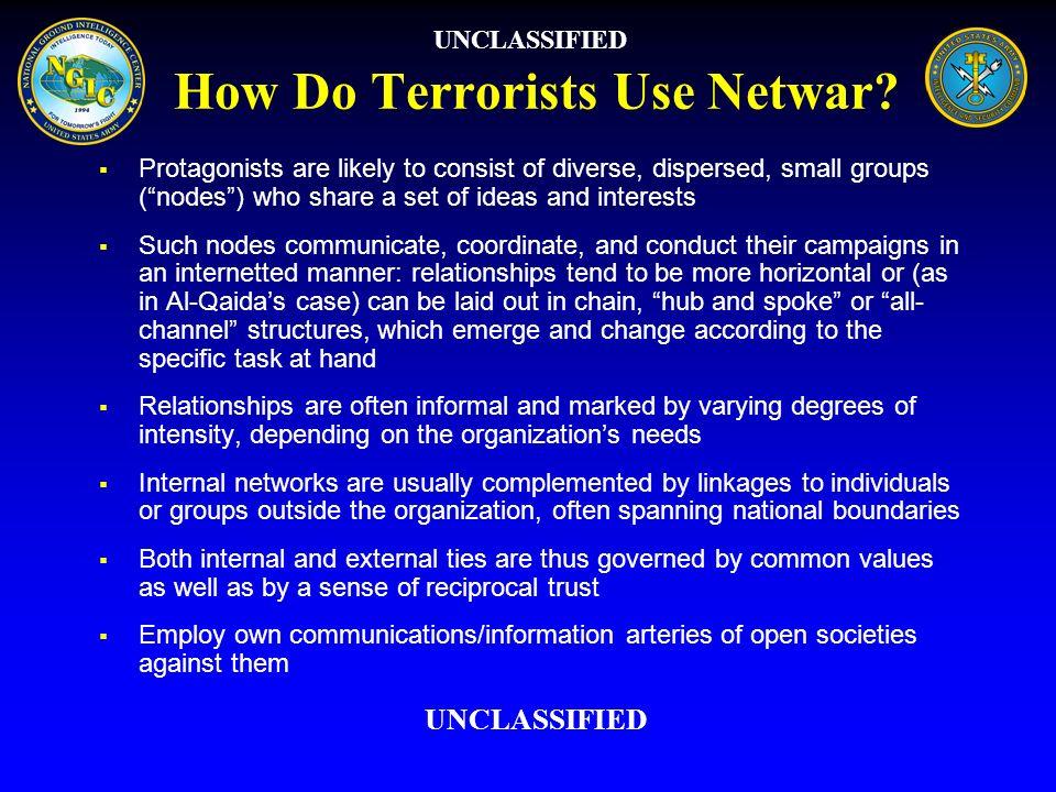 How Do Terrorists Use Netwar