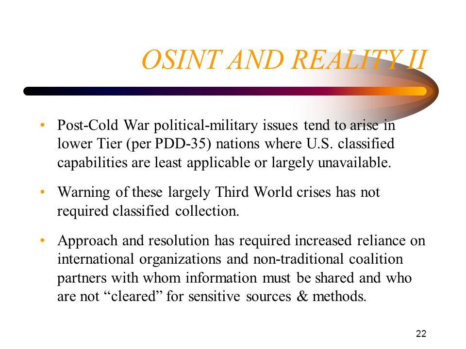 OSINT AND REALITY II
