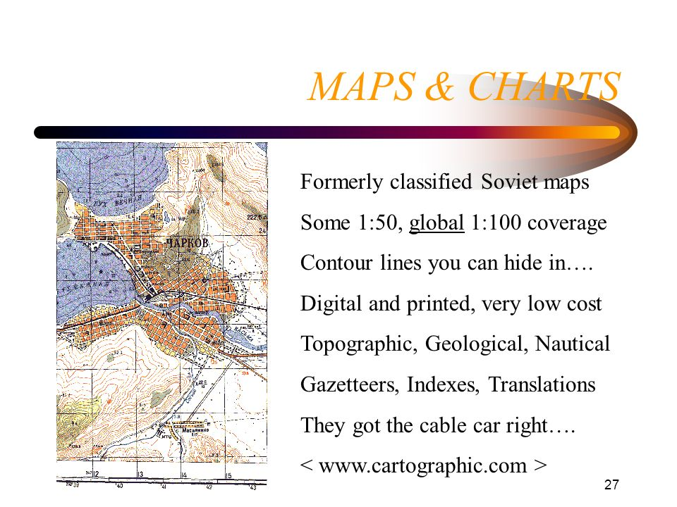 MAPS & CHARTS Formerly classified Soviet maps