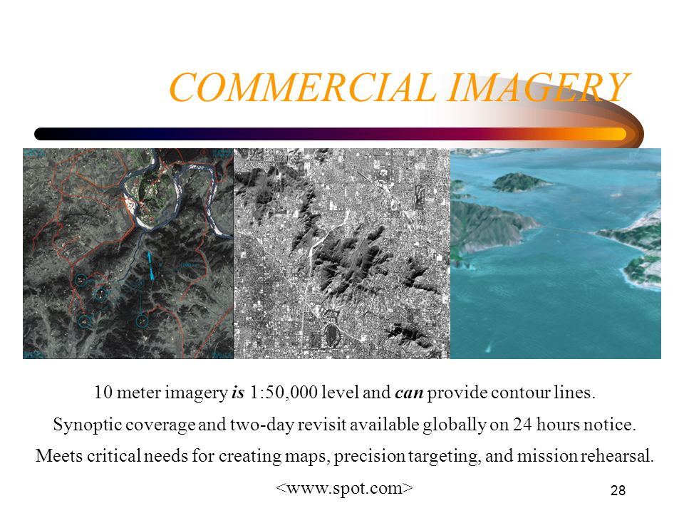 10 meter imagery is 1:50,000 level and can provide contour lines.