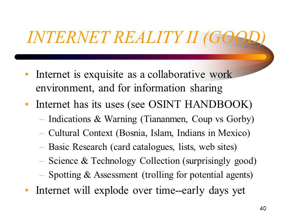INTERNET REALITY II (GOOD)