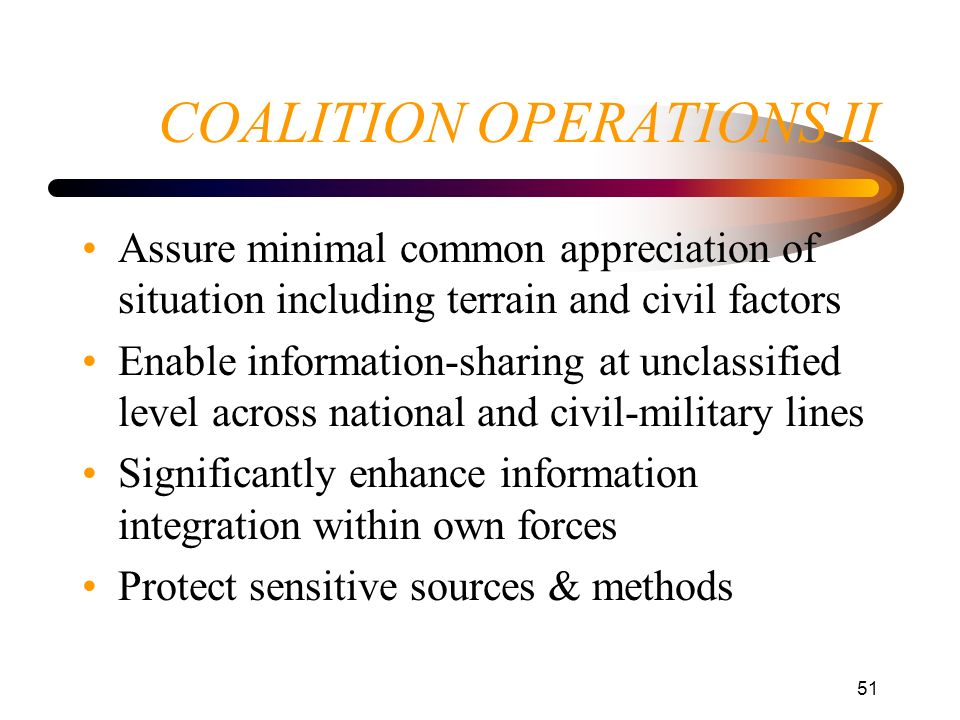 COALITION OPERATIONS II