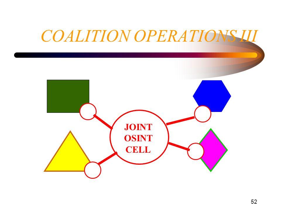 COALITION OPERATIONS III