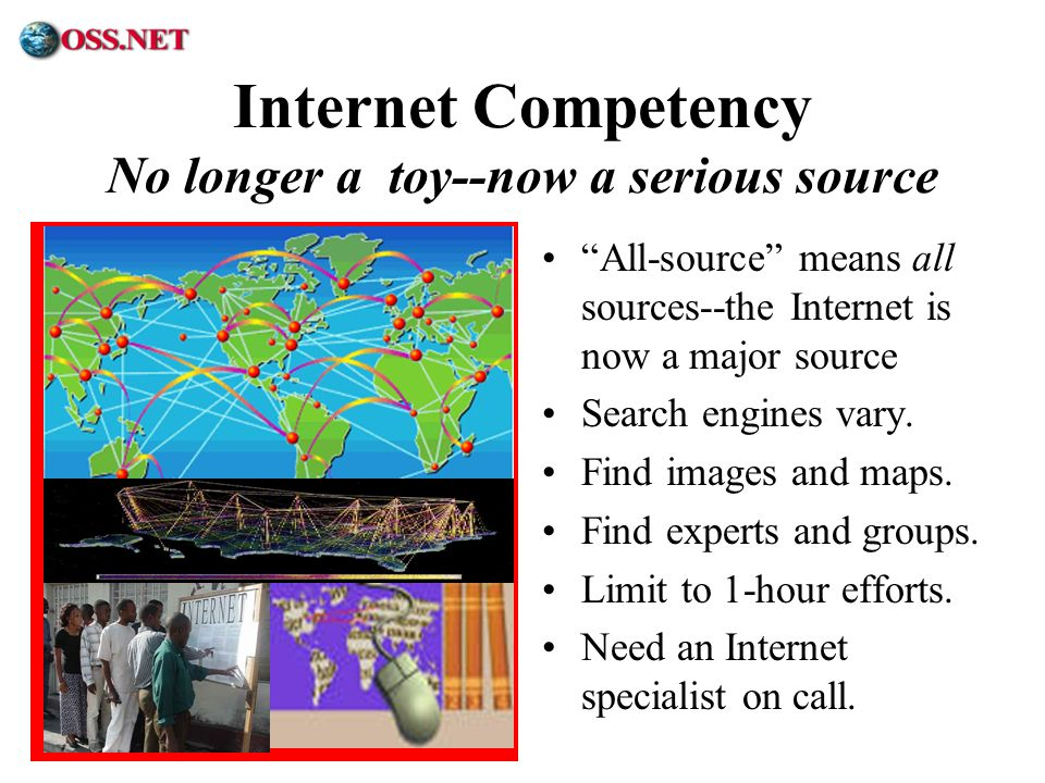 Internet Competency No longer a toy--now a serious source