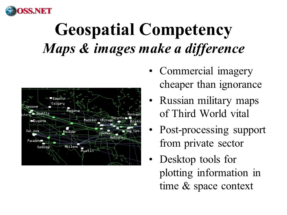 Geospatial Competency Maps & images make a difference