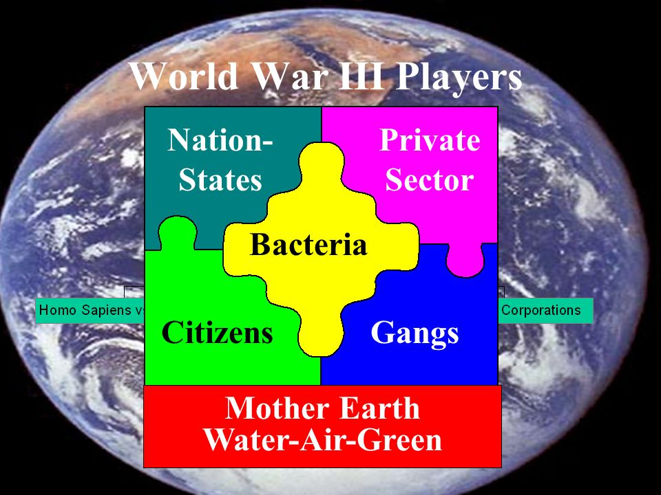 World War III Players Nation-States Private Sector Bacteria Citizens