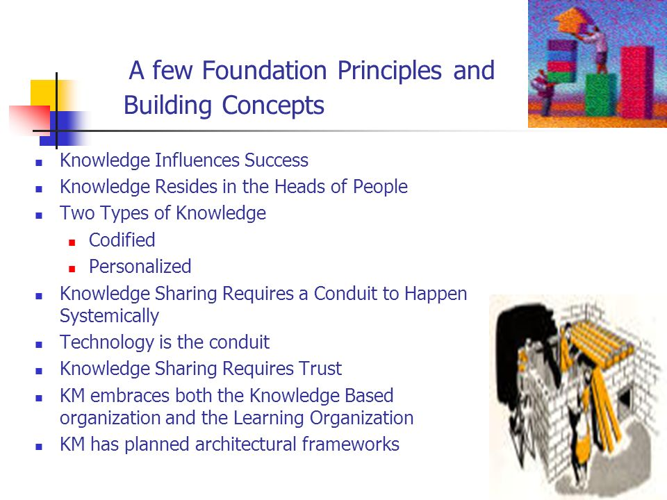 A few Foundation Principles and Building Concepts