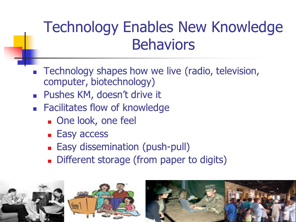 Technology Enables New Knowledge Behaviors