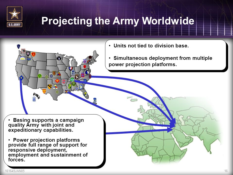 Projecting the Army Worldwide
