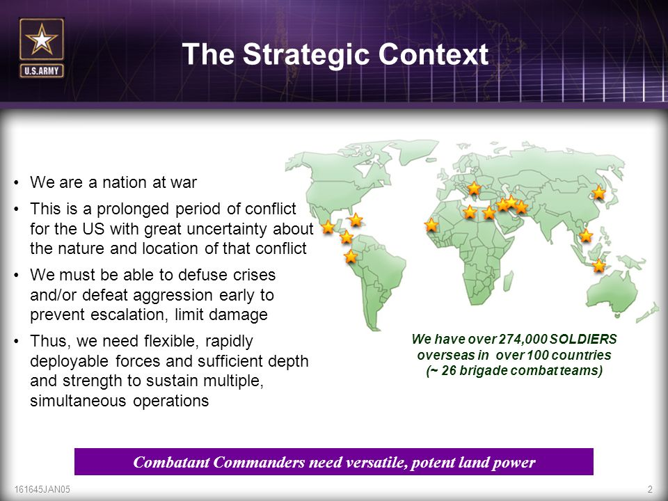 Combatant Commanders need versatile, potent land power