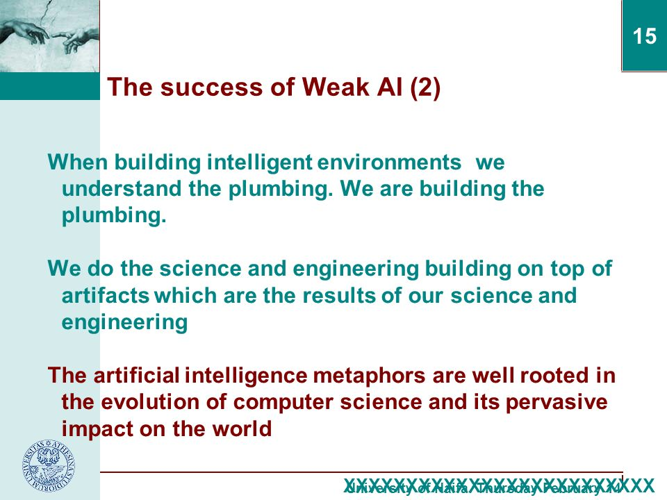 an overview of the artificial intelligence in the computer science The master of science in scientific computing, just established by the mathematics and computer science departments, is designed to provide broad training in areas related to scientific computing using modern computing technology and mathematical modeling arising in various applications.