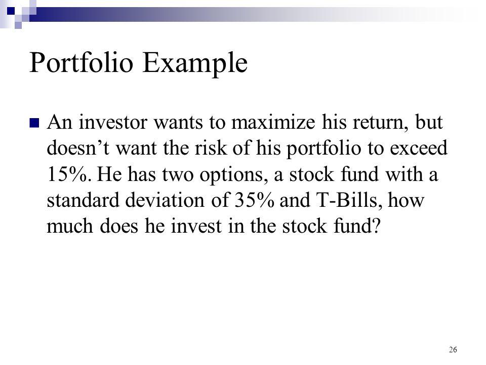 Stock options standard deviation